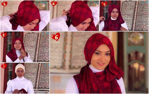 tutorial hijab pashmina simple lebaran tutorial hijab pashmina terbaru untuk lebaran yang simple 3