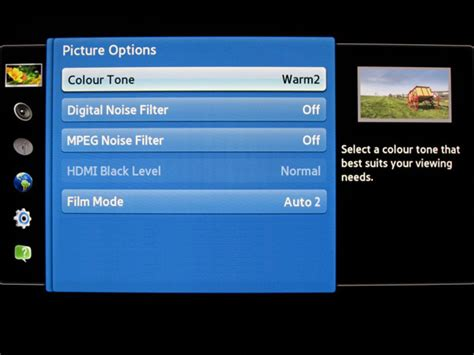 reset samsung plasma tv factory settings samsung plasma 2012 tv recommended picture settings shown