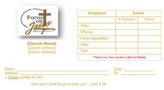church offering envelope templates