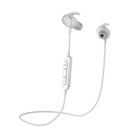 Earphone Bluetooth Qcy Qy19 With Mic Black qcy qy19 bluetooth 4 1 sport earphones with mic white