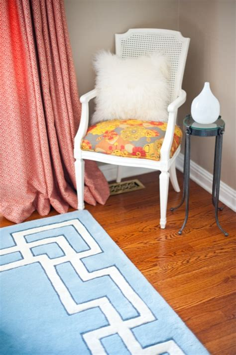 blue rugs for bedroom blue greek key rug contemporary bedroom natalie clayman