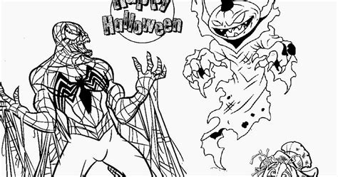 evil spiderman coloring page evil spiderman vs scary pumpkin halloween coloring pages