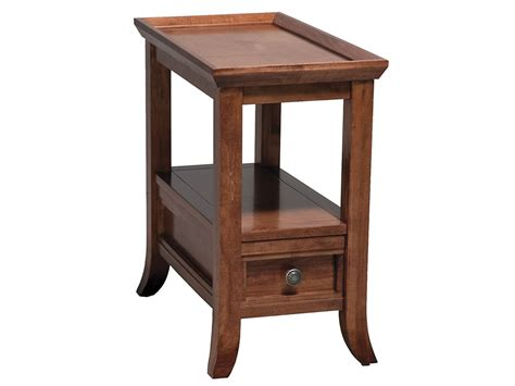 narrow end table with drawers of spice house design