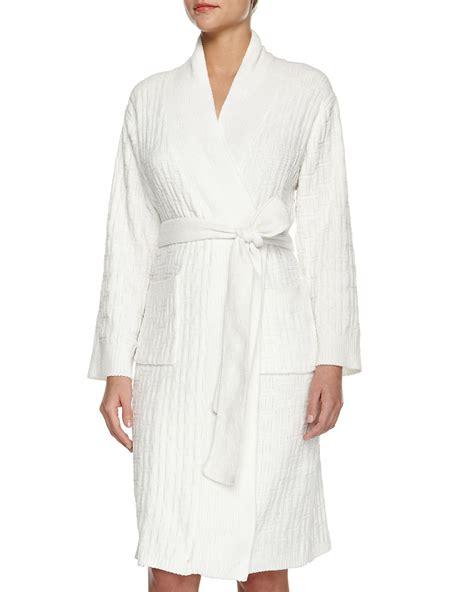 chenille robes natori truffle chenille knit wrap robe in white truffle