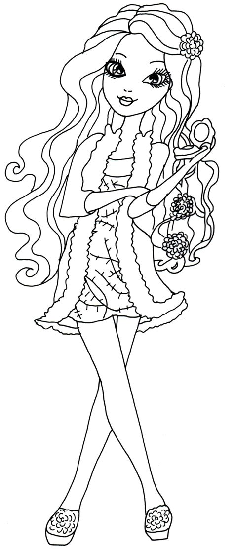 ever after high coloring pages bunny blanc free printable ever after high coloring pages briar