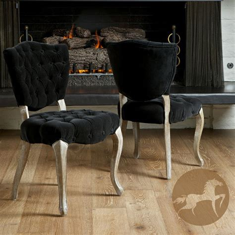 black tufted dining room chairs christopher home bates tufted black fabric dining