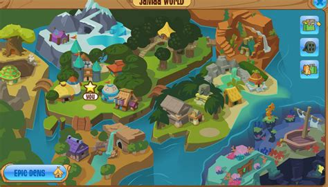 animal jam the jamaa map