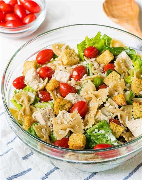 chicken pasta salad recipe chicken caesar pasta salad well plated by erin