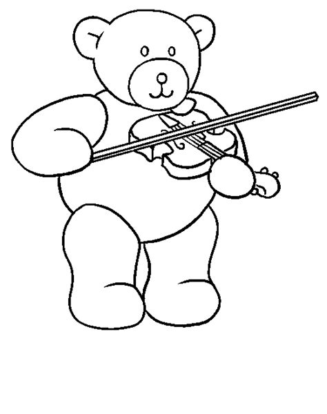 playing violin coloring page desenho de ursinho violonista para colorir tudodesenhos