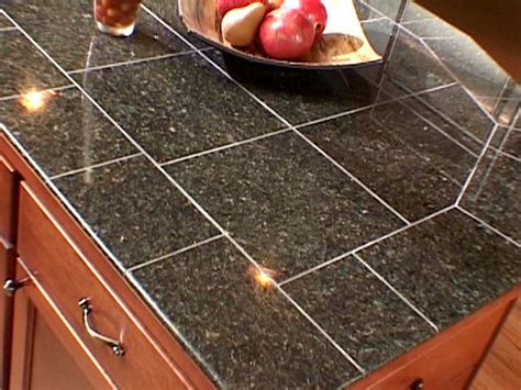 Granite Tile Kitchen Countertops Countertop Diy Tips Ideas Diy