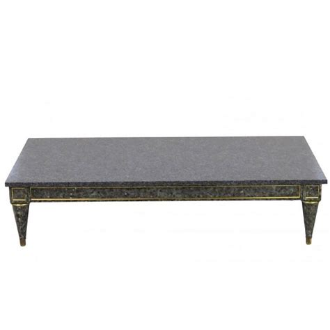 jansen style faux painted marble top coffee table for sale