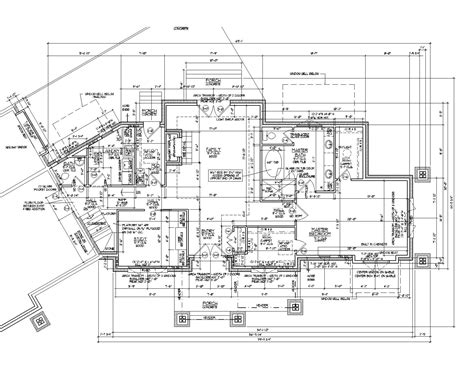 architectural floor plans 2d autocad house plans residential building drawings cad
