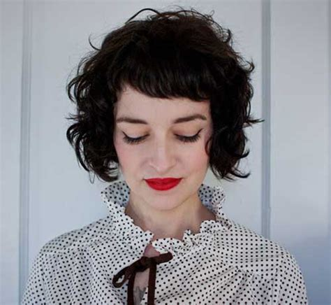 redbook short curly stacked bob for thin hair 20 chic and beautiful curly bob hairstyles we adore