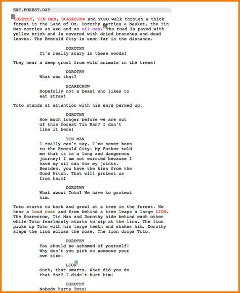 film script exle gse bookbinder co