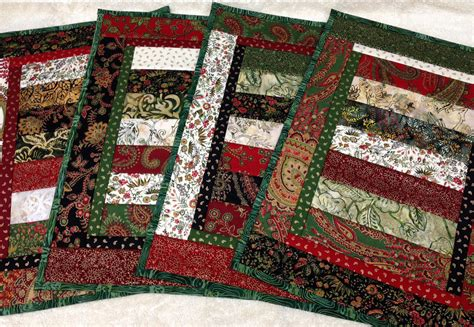 pattern christmas placemats stunning quilted christmas placemats set of 4