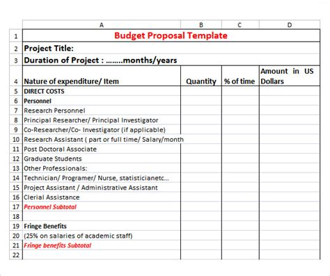 research proposal layout exle budgetary proposal template template business