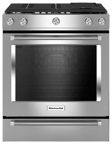 kitchenaid 36 gas range kitchenaid 7 1 cu ft self cleaning slide in dual fuel