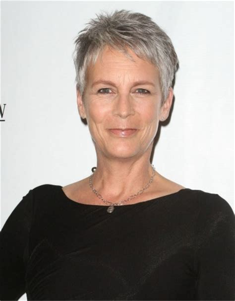 fine gray hair wide forehead jamie lee curtis grey hairstyles hairstyles for fine
