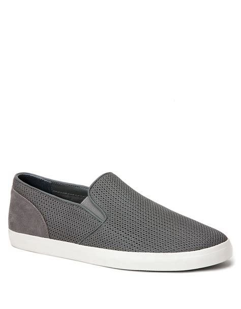 calvin klein sneakers mens lyst calvin klein mesh slip on sneakers in gray for