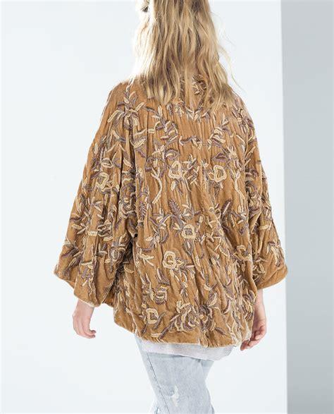 Handmade Kimono - zara handmade velvet kimono in brown lyst