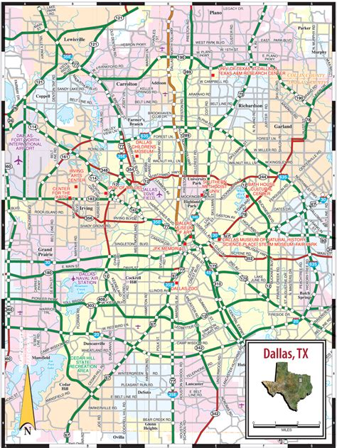 printable map of dfw area dallas tx map