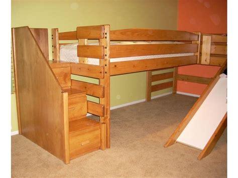mid loft bed mid height l shape loft l115 the bunk loft factory