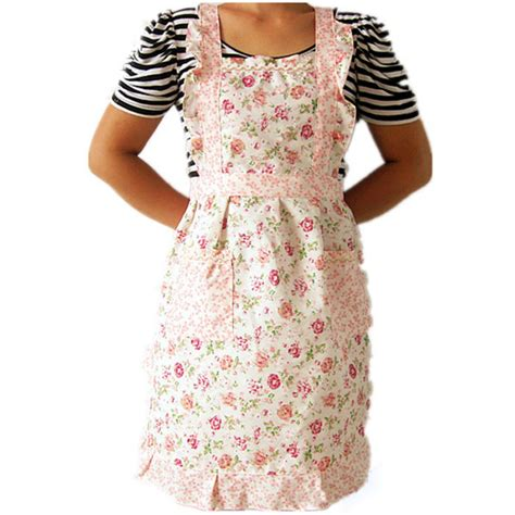 Kitchen Dresses by Home Kitchen Cooking Bib Flower Style Pocket Lace