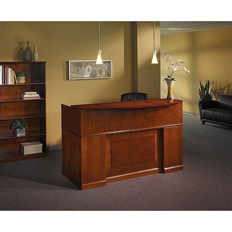 mayline sorrento reception desk sorrento reception desk with veneer counter