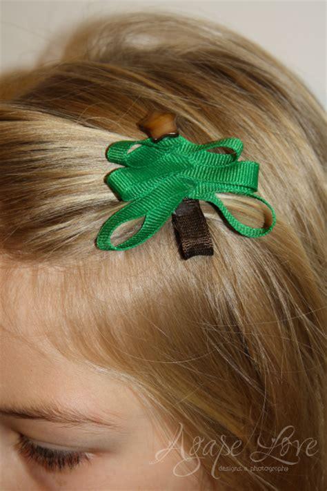 sculpture ribbon hair clip tutorial agape love designs christmas tree ribbon sculpture hair