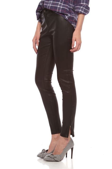 j brand leather j brand leather in black lyst