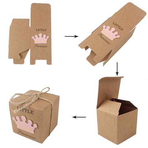 Gift Boxes From Paper - 10pcs kraft paper gift box boxes baby shower