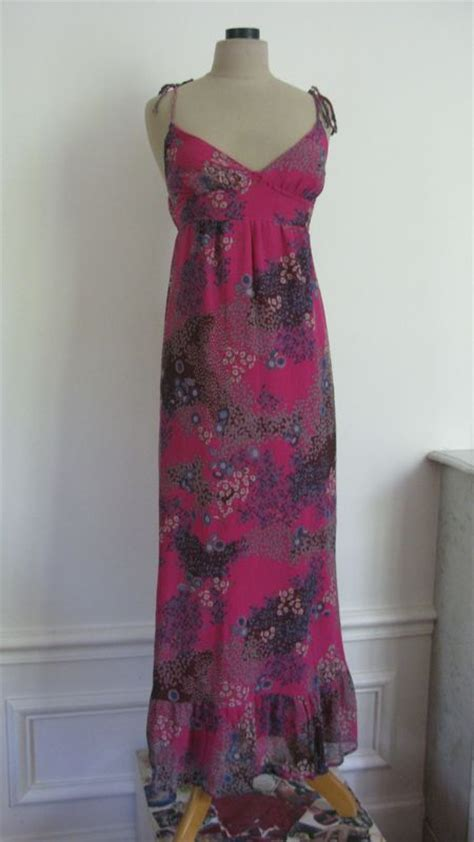 Robe Longue Soie Fleurie - 1740 robe longue en soie fushia toute fleurie t 36 les