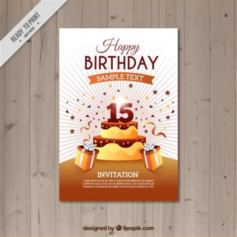 Birthday Card Template Freepik by Brown Birthday Card Template Vector Premium