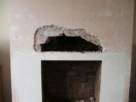 Lintel Fireplace install fireplace lintel and plaster chimney breast chimneys fireplaces in