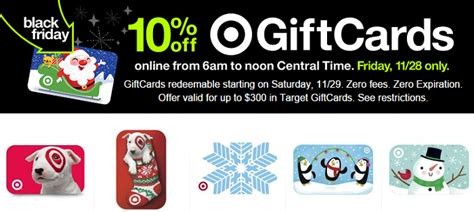 Black Friday Gift Card Sales - hurry 10 off target gift cards