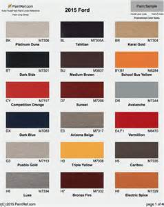 ford colors 2016 ford exterior color chart autos post