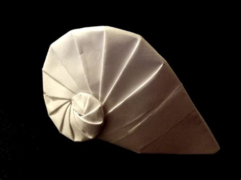 Origami Shell - origami navel shell by thatandyguy95 on deviantart