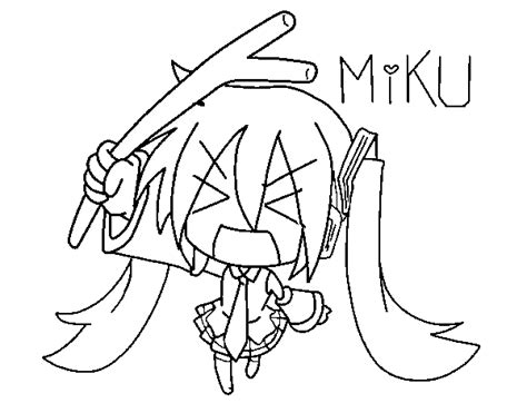 imagenes de hatsune miku kawaii para colorear dibujo de miku para colorear dibujos net