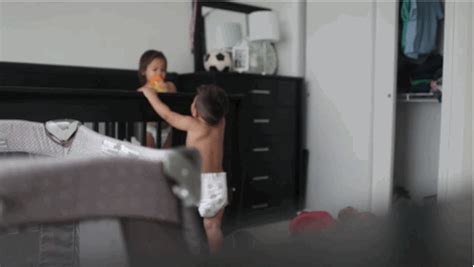 bedroom spycam hidden camera captures the secret lives of babies when