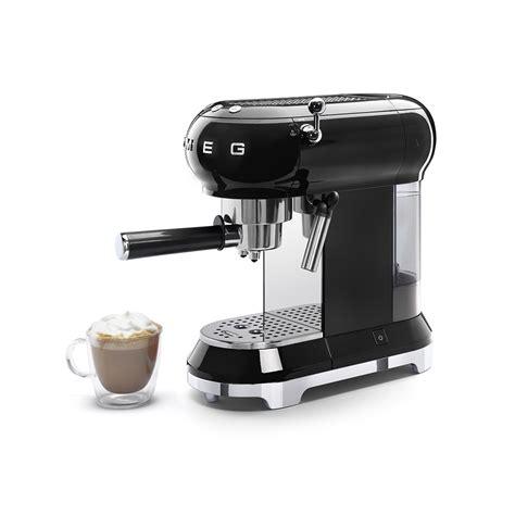 Small Espresso Machine For Home Espresso Coffee Machine Ecf01bleu Smeg