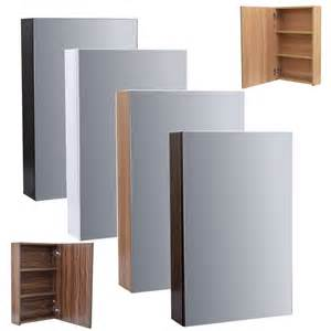 Bathroom Mirror Cabinet Enki Mirror Cabinet Bathroom Cloakroom Wall Hung Unit Horizon Ebay
