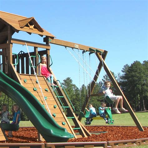 tall swing set creative playthings manchester with fun deck swing set 1