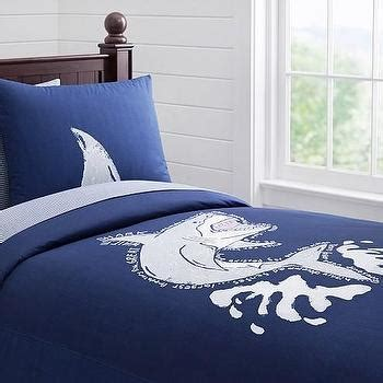 shark bedding full preppy blue and white shark duvet cover