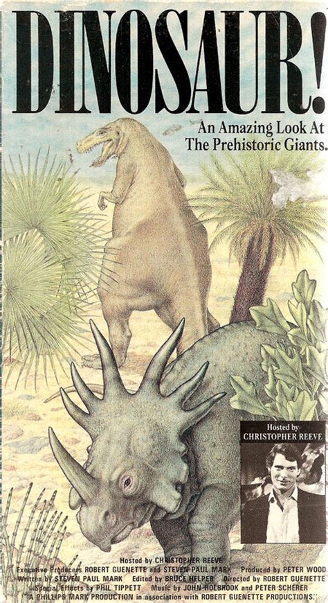 christopher reeve dinosaur the 1980s