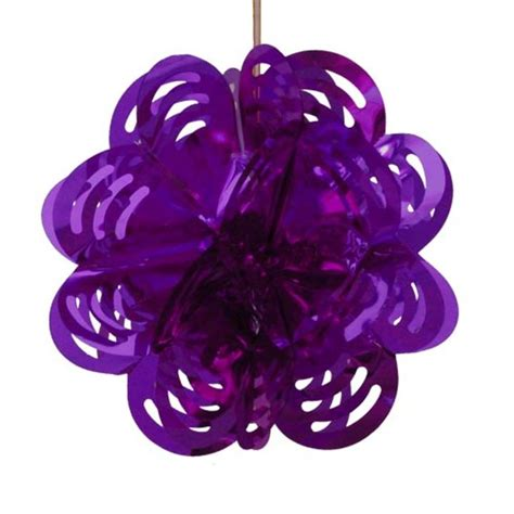 foil decorations purple flower foil decoration