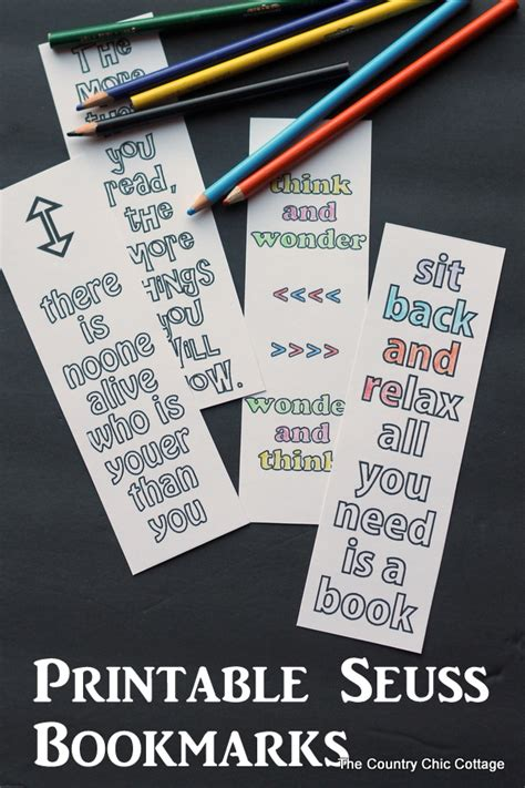 free printable bookmarks with quotes printable seuss quote bookmarks bookmarks free
