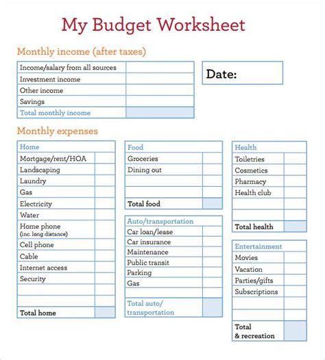 Basic Budget Template Free