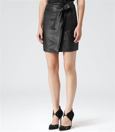 leather wrap skirt redskirtz