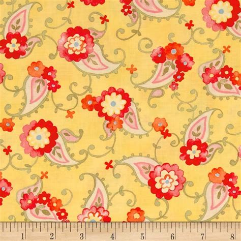 Buy Quilting Fabric by Moda Nanette Paisley Butterscotch Discount Designer