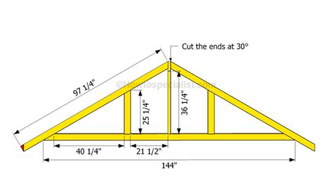 garage roof truss design how to build a garage roof howtospecialist how to build step by step diy plans